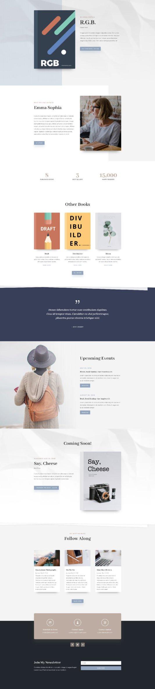 website builder for writers, author website