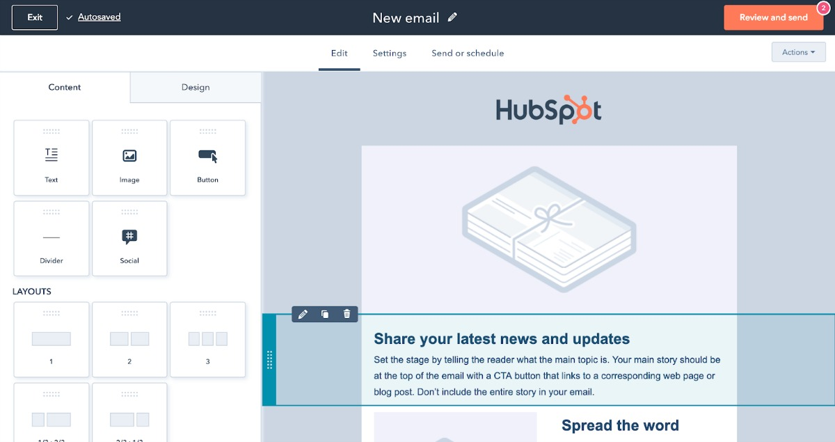 increase sales, HubSpot email templates