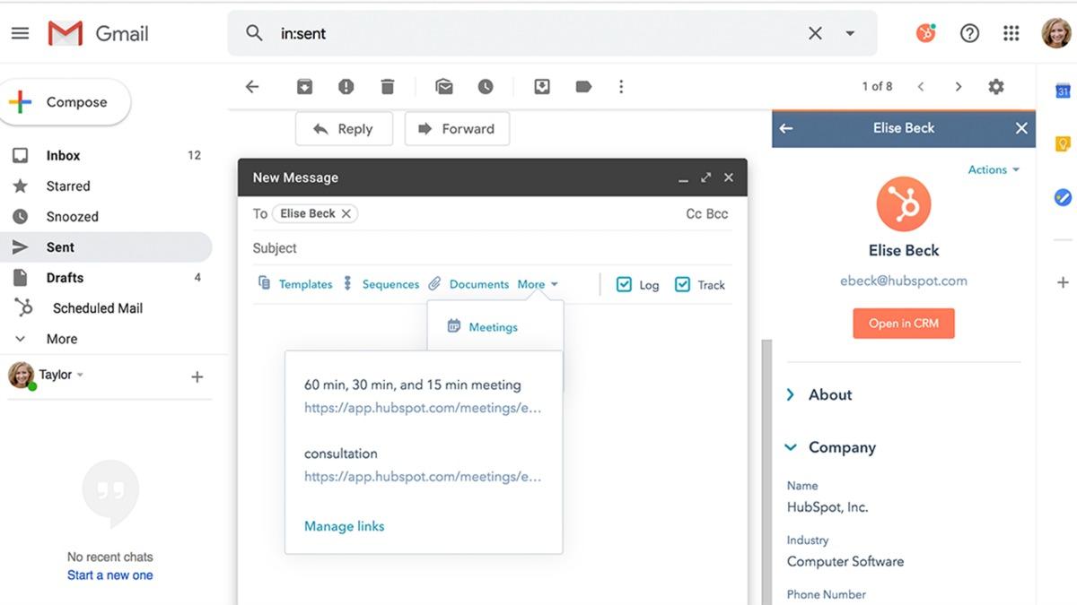 increase sales, hubspot gmail integration