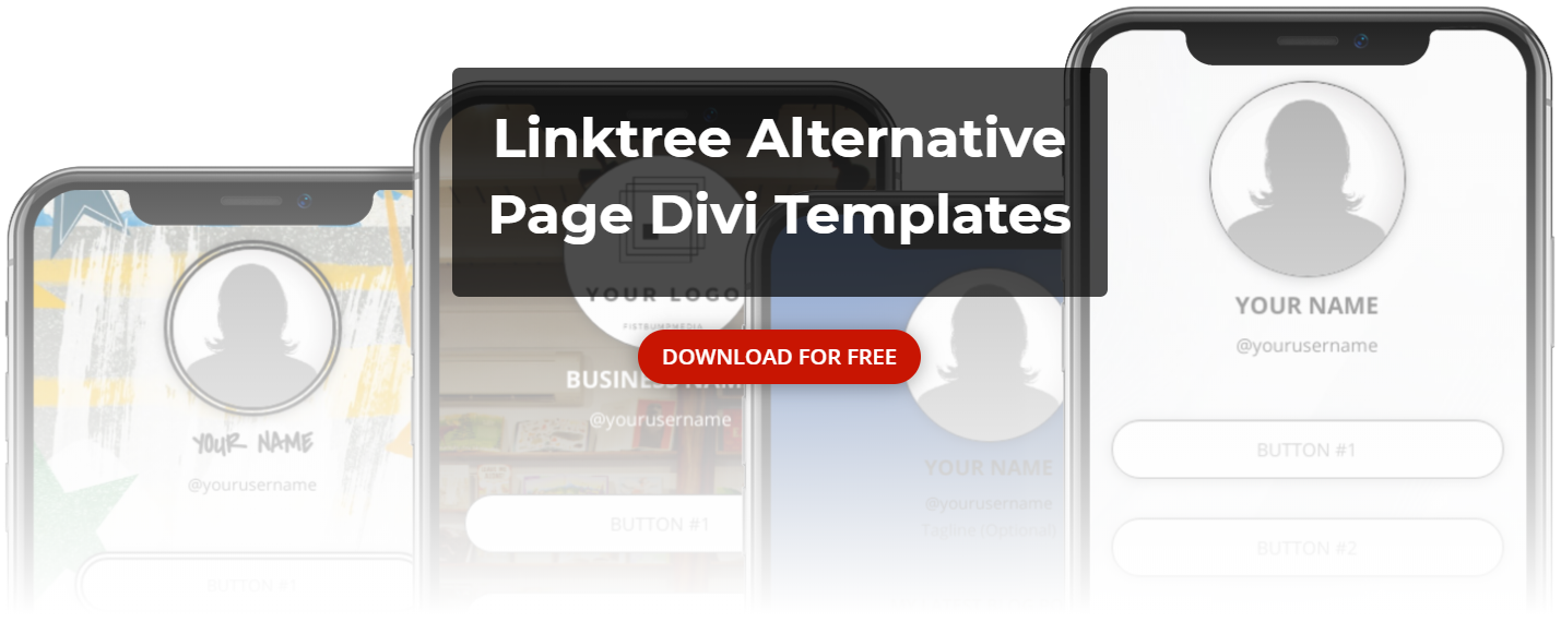 linktree, linktree alternative, linktree divi template