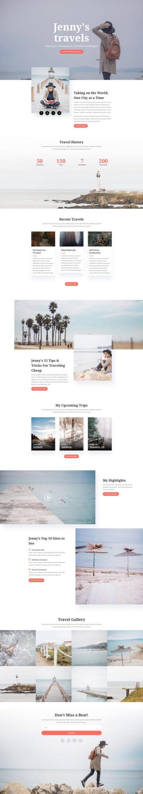 travel blog template